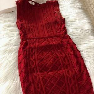 House of CB red bandage dress